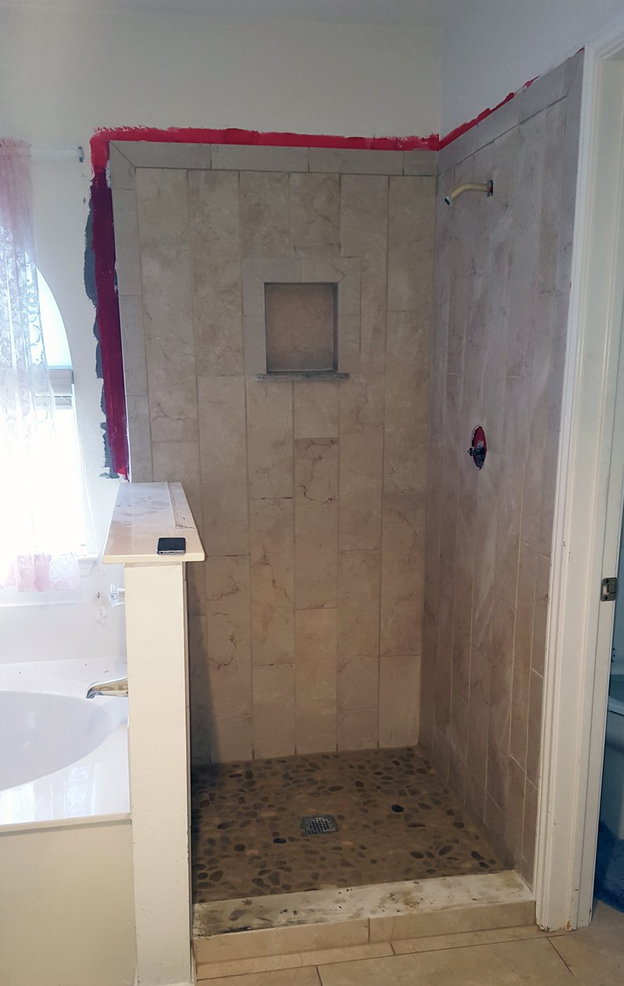 American Country Bathroom Custom Tile Work