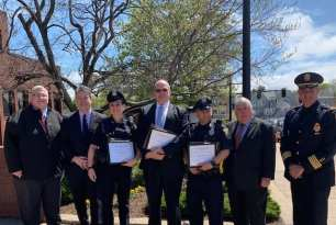 Randolph Police Officers Honored with Award for Lifesaving Efforts
