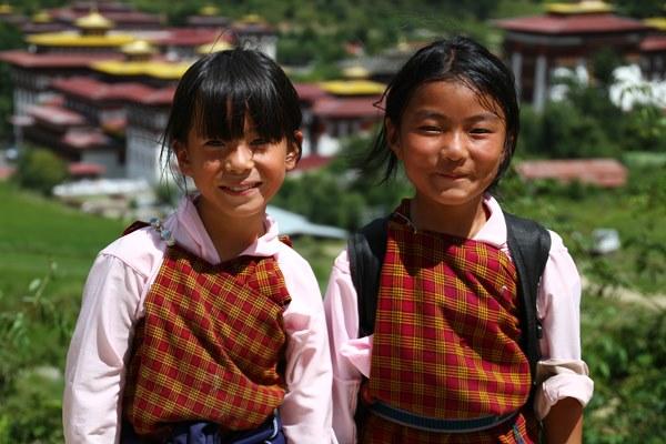ブータンの子どもたち