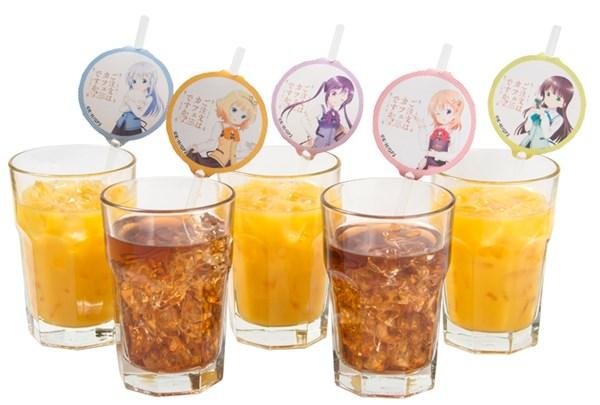 キャラクター紙タグ付きアイスコーヒー