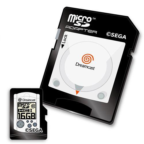 ドリームキャスト microSDHCカード(16GB)+SDアダプターセット