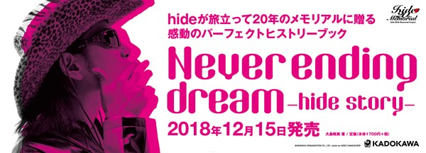 『Never ending dream -hide story-』大型看板
