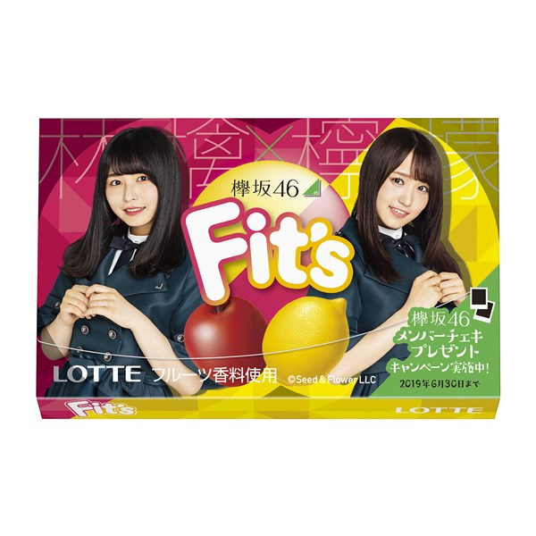 『Fit's 欅坂46ガム<林檎×檸檬>』