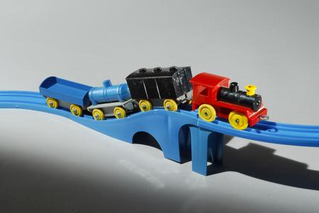 「プラスチック汽車レールセット」