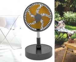 コンパクトにたためるポータブル扇風機「どこでもファン」新発売