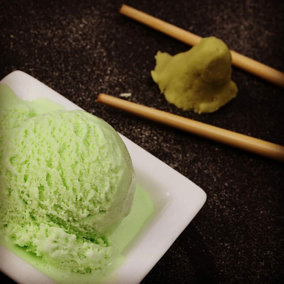 Wasabi Ice Cream: the cure and cause of a burning tongue!