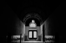 Photographs of the Convent of Christ in Tomar Portgal, black and white
