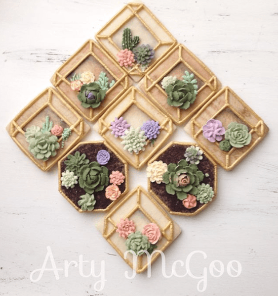 15 Stunning Succulent Cakes Cookies And Cupcakes