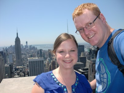 Us at the Top of the Rock again. See the Empire State Building behind us?