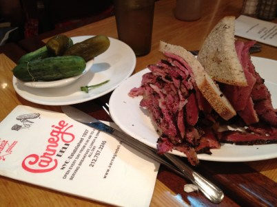 Lunch at the Carnegie Deli