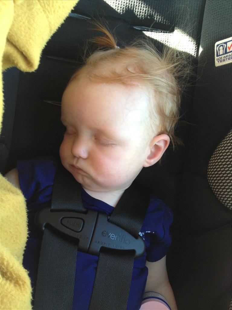 Sleeping on the way.