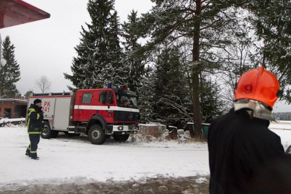 fire truck going on a call