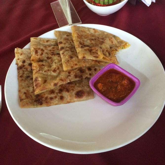 Breakfast spread- Paratha
