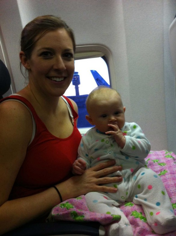 On the plane to Hawaii