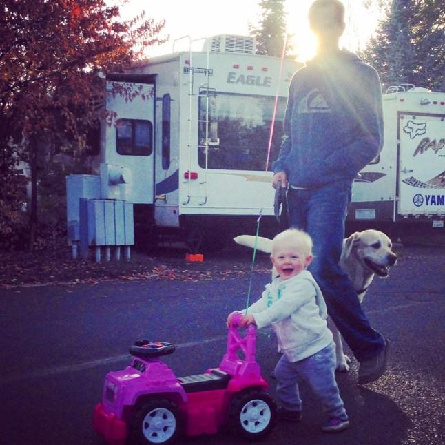 Dad and Ry walking Nixon (Iphone)
