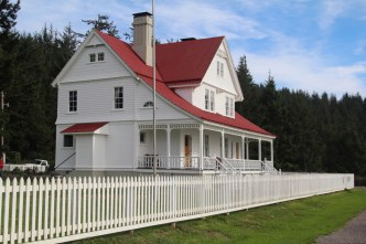 The old light keeps house. Its a bed and breakfast now. Pretty sweet digs for a lighthouse keeper in the early 1900s