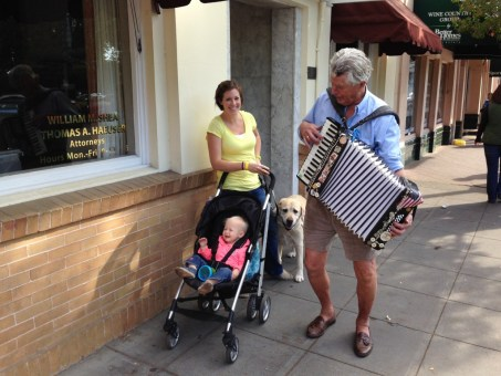 Ry didn't really like the accordion, but we did.