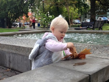 Ry at the Fountain in Herldsburg