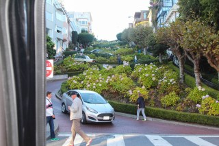 Look up Lombard St. after our decent.