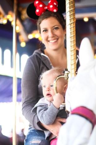 Jocelyn and Ry on the carousel.