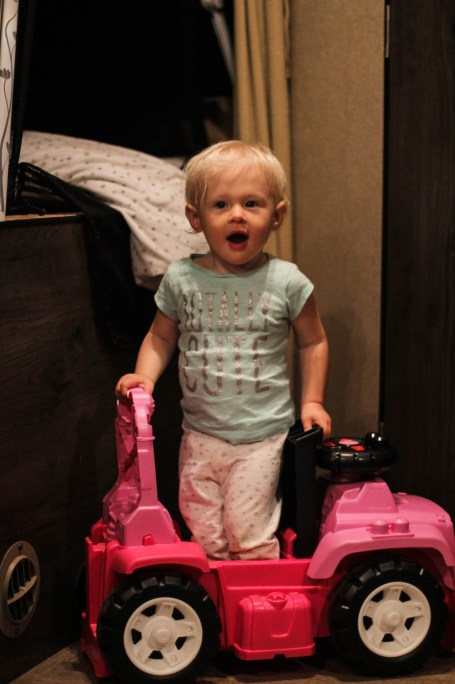 Ry with standing in her jeep