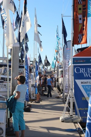 Flags of the boat show