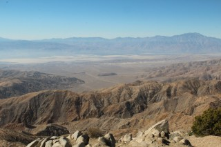 Keys Ridge. Down below is Palm Springs. Under the snowy mountain.