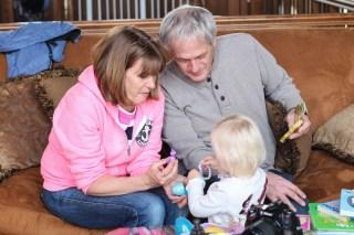 Grandma and Grandpa on Easter