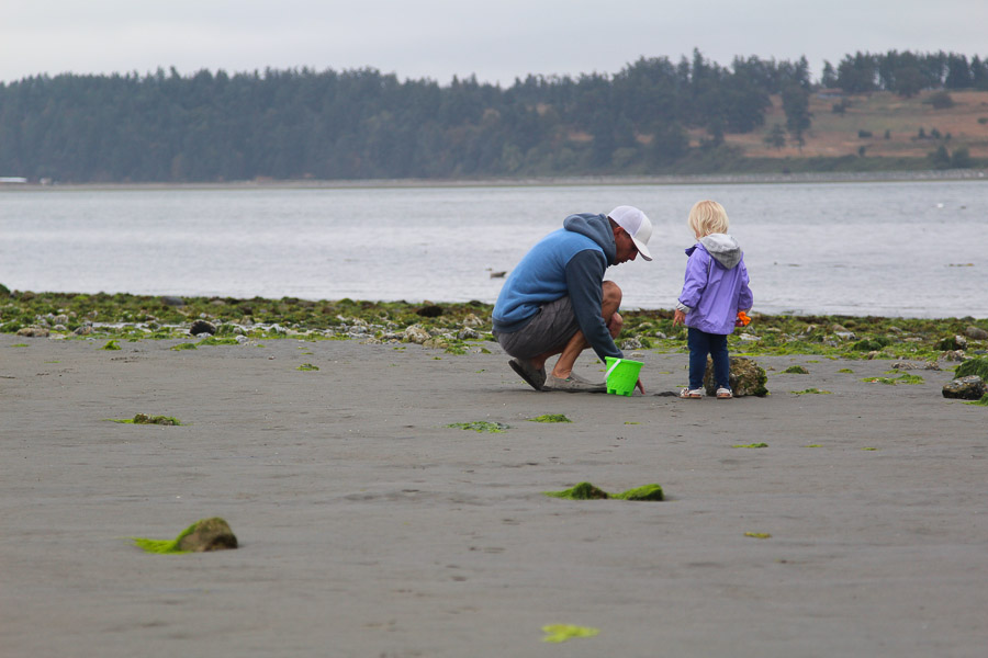 Shelling on Vancouver Island with Dad