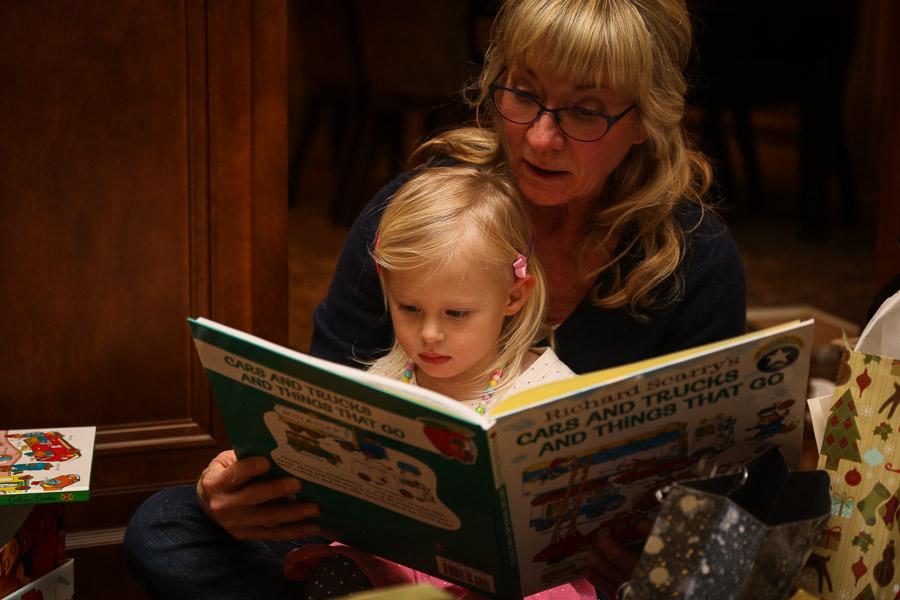 Grandma and Ry reading her new books