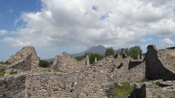Mt. Vesuvius looks over Pompeii