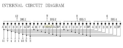 7 segment 4 digit common anode