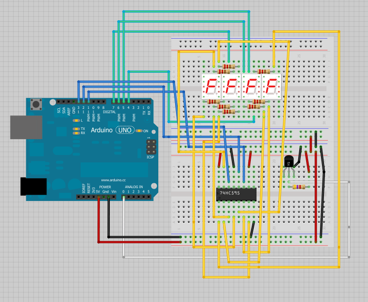 Seven segment display controller library for Arduino - GitHub
