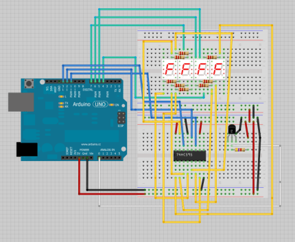 Prime Arduino Temperature On 4 Digit 7 Segment Display Random Nerd Wiring Database Gramgelartorg