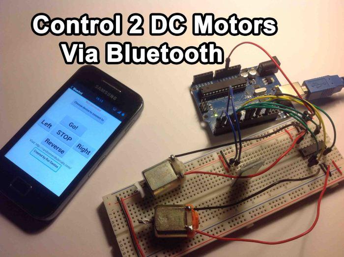 Arduino control dc motors via bluetooth random nerd