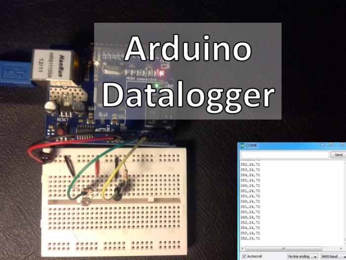 Arduino - Datalogger with Temperature Sensor and