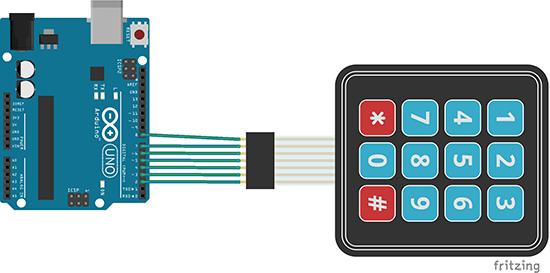 [ANLQ_8698]  Arduino Membrane Keypad Tutorial | Random Nerd Tutorials | Membrane 1x4 Keypad Wiring Diagram |  | Random Nerd Tutorials