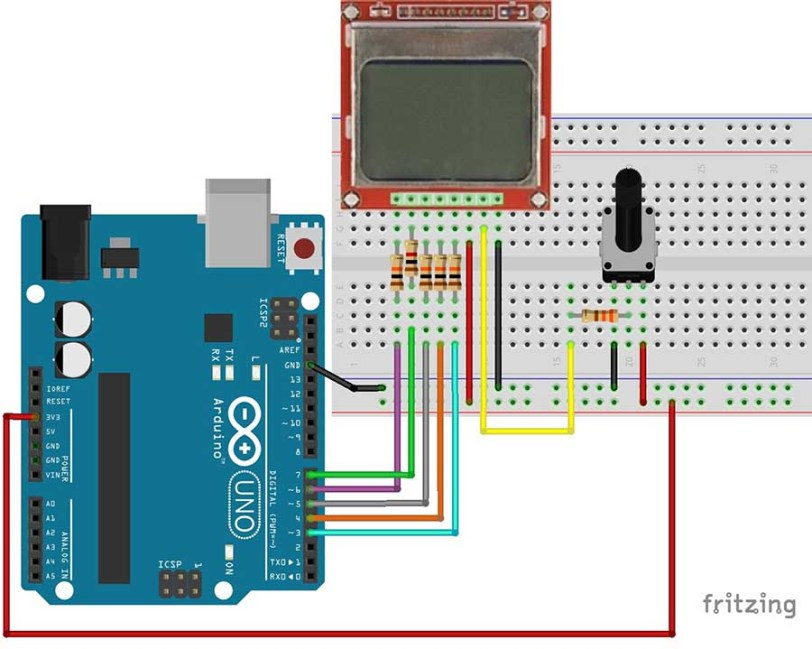 Complete Guide for Nokia 5110 LCD with Arduino | Random Nerd