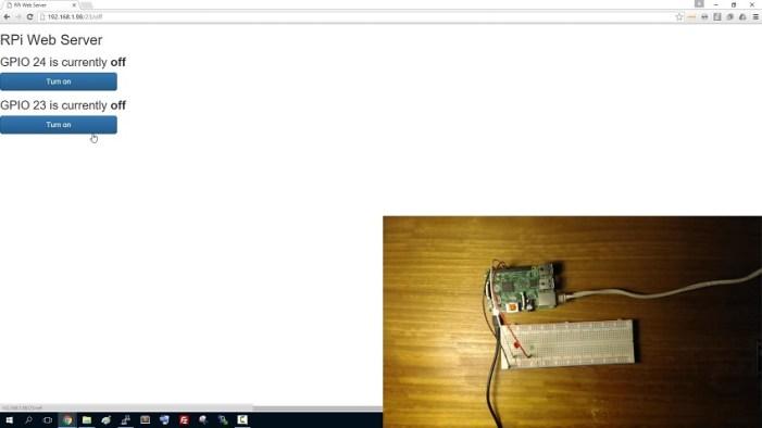 Raspberry Pi Web Server Using Flask To Control Gpios