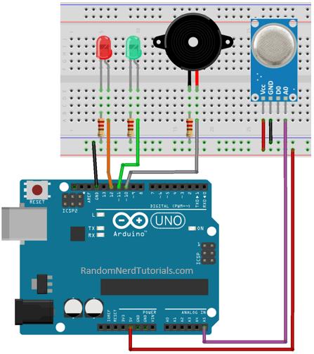 Guide for MQ-2 Gas Sensor with Arduino | Random Nerd Tutorials
