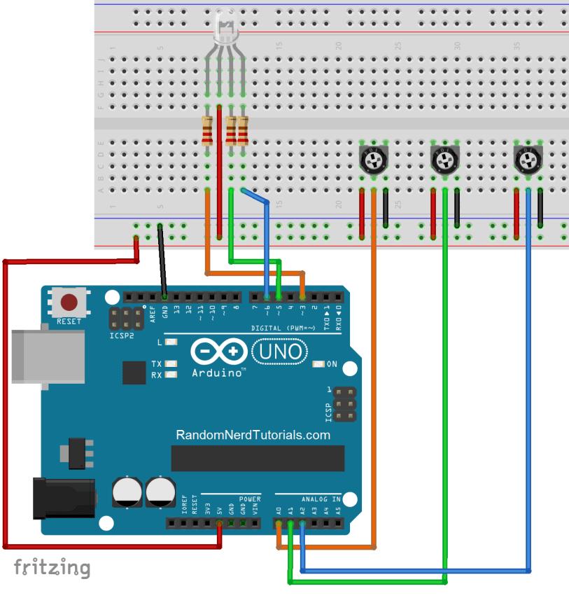rgb led_potentiometer