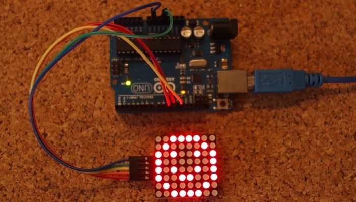 Guide For 8x8 Dot Matrix Max7219 With Arduino Random