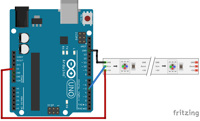 Guide For Ws2812b Addressable Rgb Led Strip With Arduino