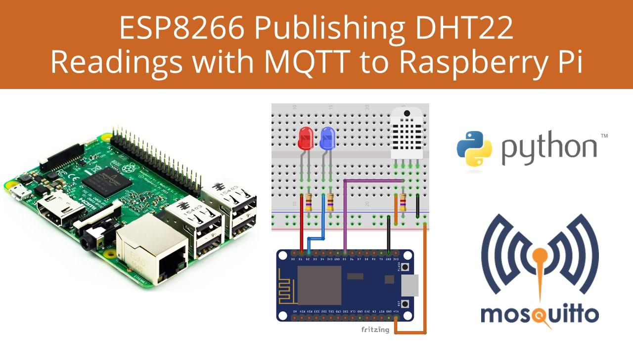 ESP8266 Publishing DHT Readings Raspberry Pi | Random Nerd