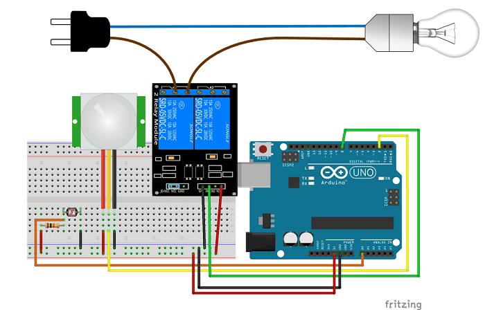 Night Security Light With Arduino