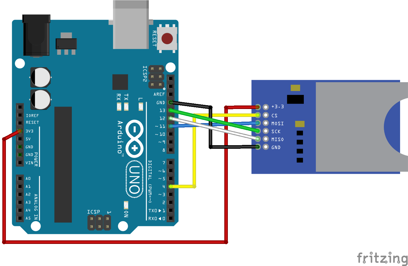 Guide To Sd Card Module With Arduino Random Nerd Tutorials Interface Wiring Diagram Connect The As Shown In Circuit Schematics Below Or Check Pin Previous Section