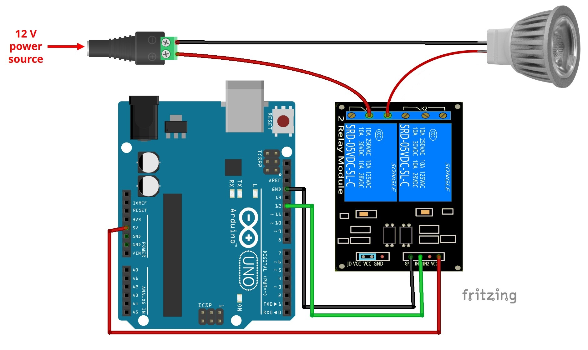 control 12v lamp via sms with arduino random nerd tutorials rh randomnerdtutorials com Arduino Relay Shield Project Arduino Relay Connections