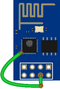 ESP8266 ESP-01 Enable Timer Wake Up GPIO 16 to RST