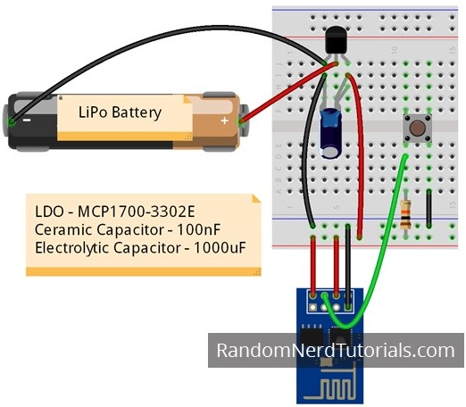 esp8266 voltage regulator for lipo and li