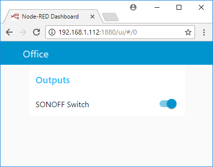 Control Sonoff Basic Switch with ESP Easy Firmware and Node-RED